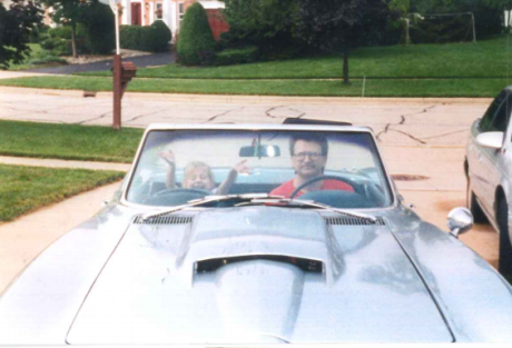 Dad and corvette